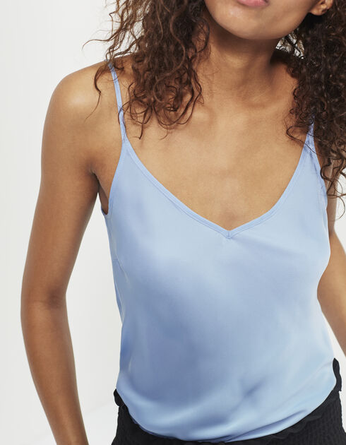 Women's blue camisole top