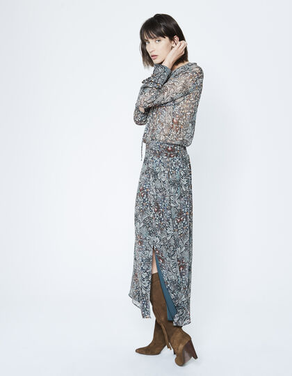 Long plant print dress - IKKS Women