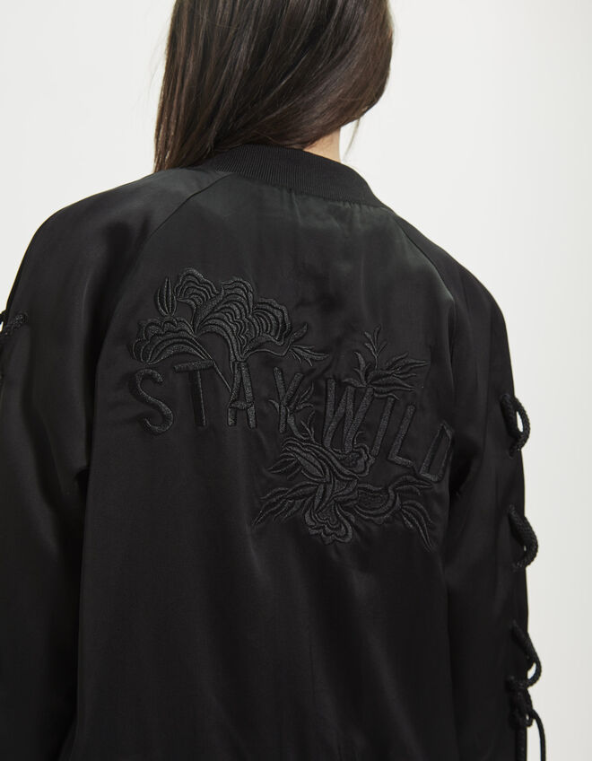 Women's satin jacket
