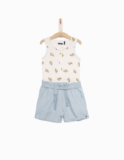 Girls' short jumpsuit - IKKS Junior