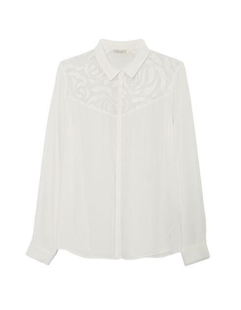 Women's embroidered voile shirt