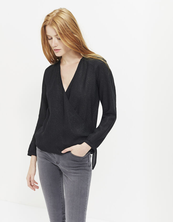 Women's jacquard blouse