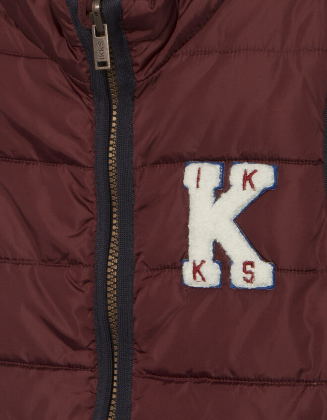 Boys' burgundy padded jacket