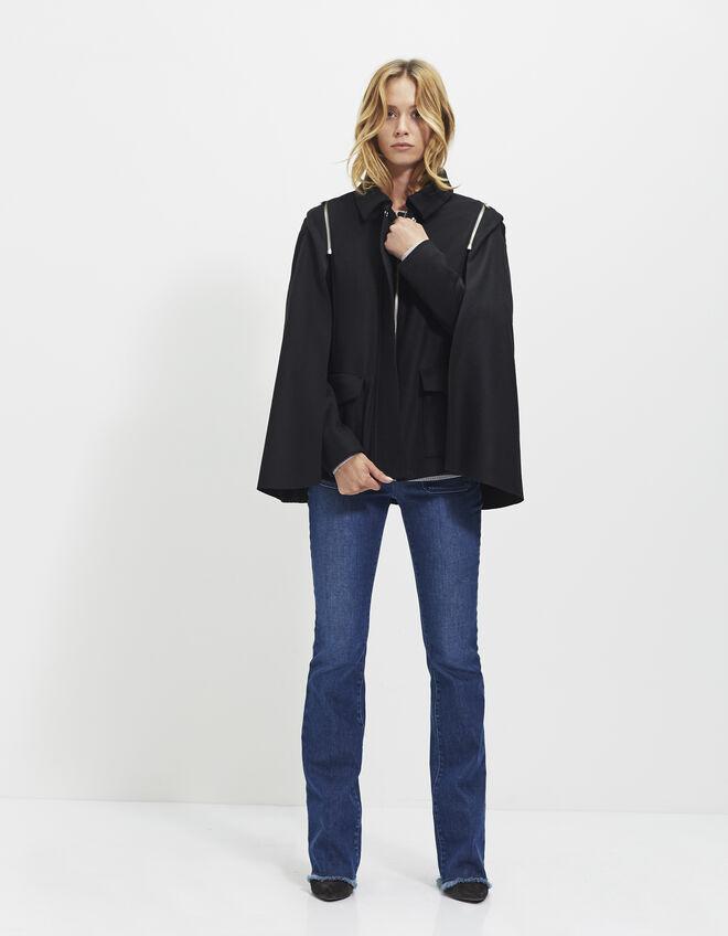 manteau cape femme ikks mode archive h16 automne hiver. Black Bedroom Furniture Sets. Home Design Ideas
