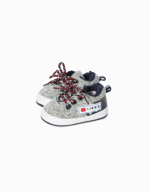 Baby boys' knitted trainers