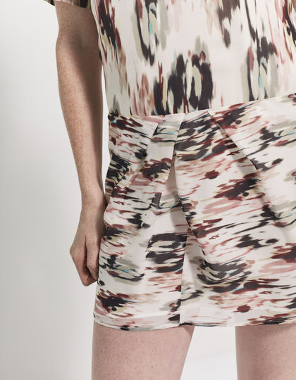 Printed silk dress - IKKS Women