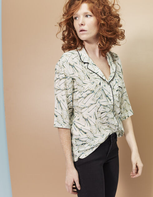 Women's silk shirt