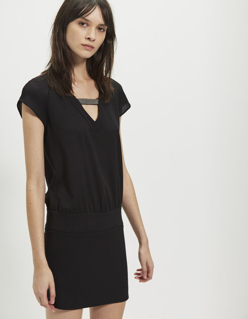 Women's crêpe jewel dress