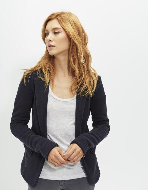 veste blazer femme ikks jusqu 60 soldes deuxi me d marque. Black Bedroom Furniture Sets. Home Design Ideas