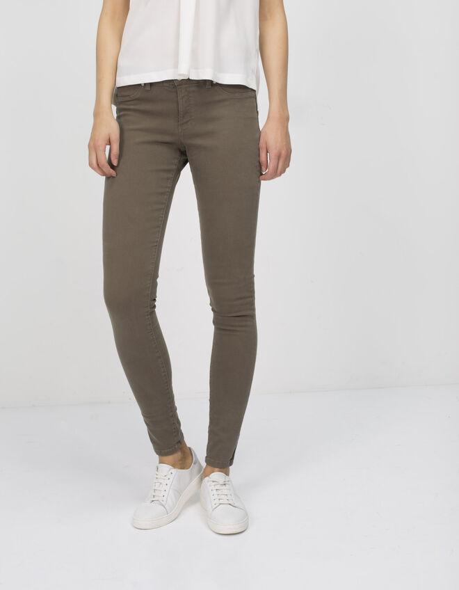 Women's khaki jeggings