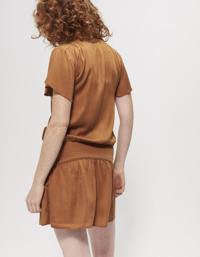 Tencel® dress with lacing