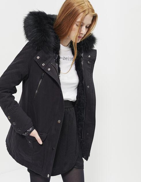 parka chaude pour femme femme manteaux fourrure chaude parka a capuche. Black Bedroom Furniture Sets. Home Design Ideas