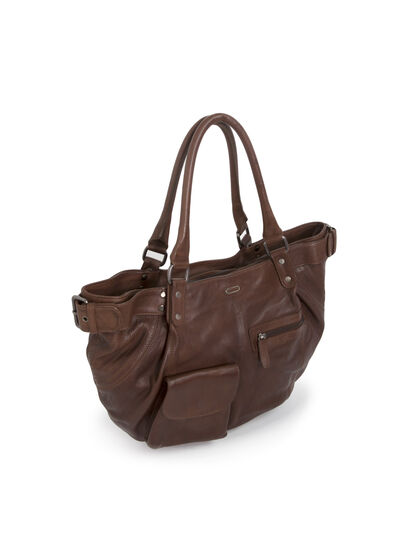 Women's leather tote bag - IKKS Women