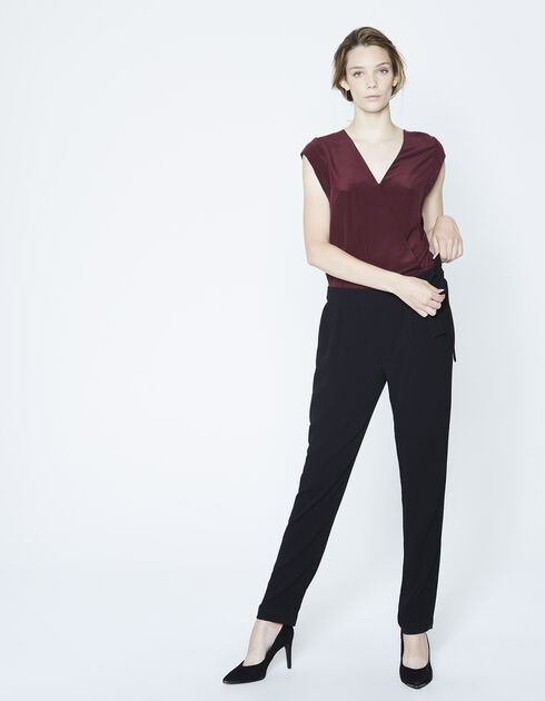 Silk and crêpe jumpsuit