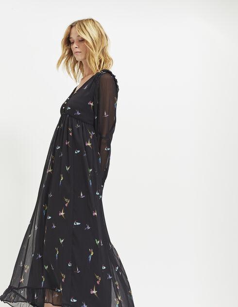 robe longue voile imprim ikks mode archive h16 automne. Black Bedroom Furniture Sets. Home Design Ideas