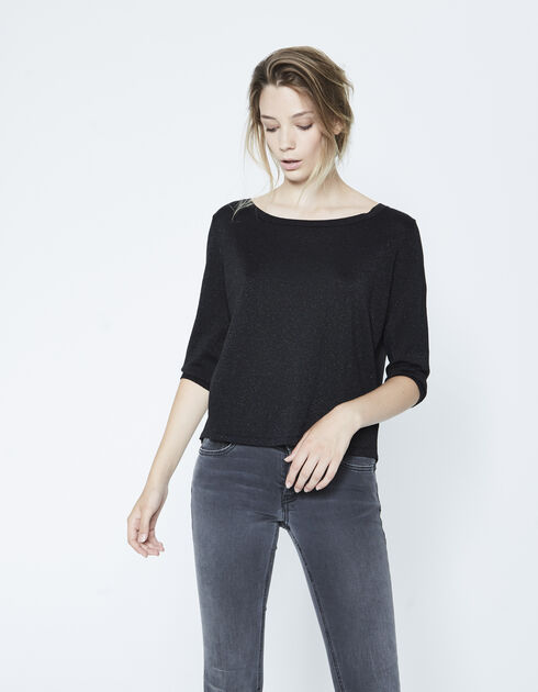 Women's two-fabric sweater