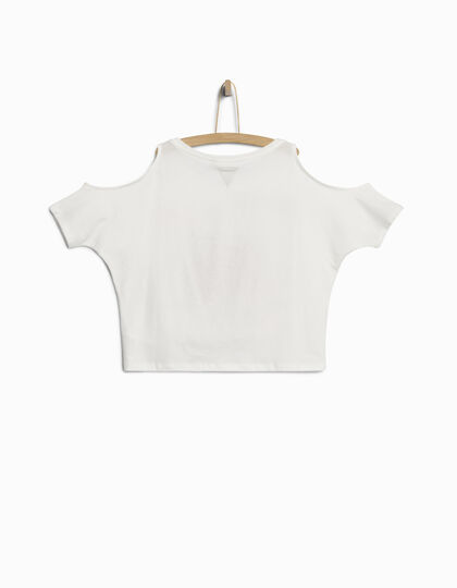 Wit meisjes T-shirt - IKKS Junior