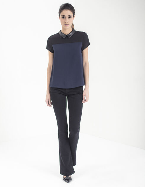 Womens two-tone top