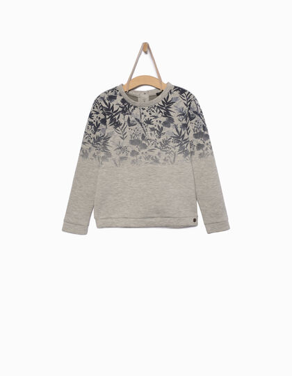 Girls' grey sweatshirt - IKKS Junior