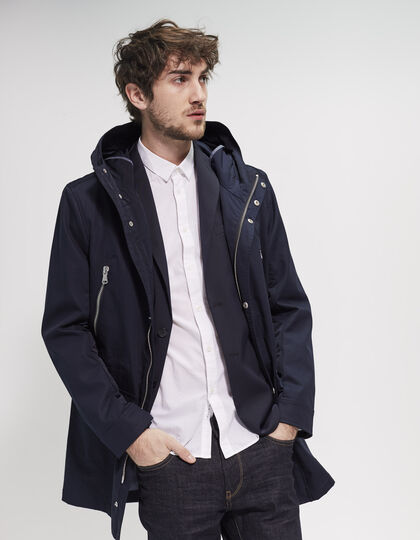 Men's blue parka - IKKS Men