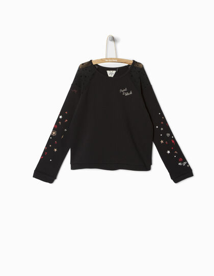 Sweat noir fille - IKKS Junior