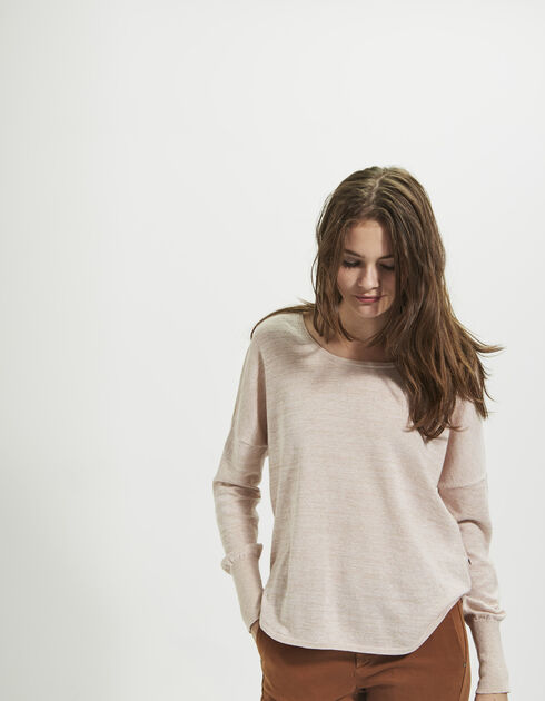 Pull rose pour femme