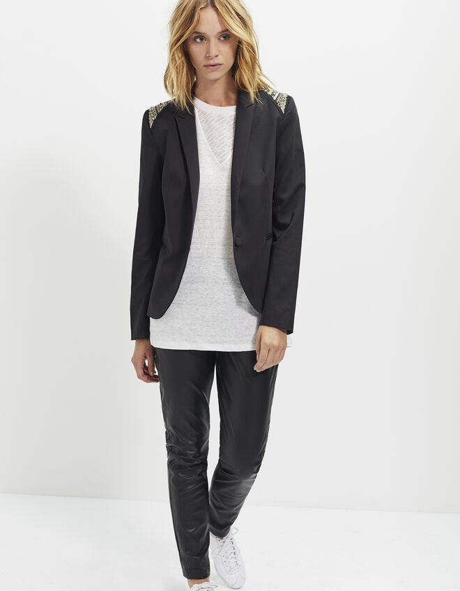 Women's black suit jacket