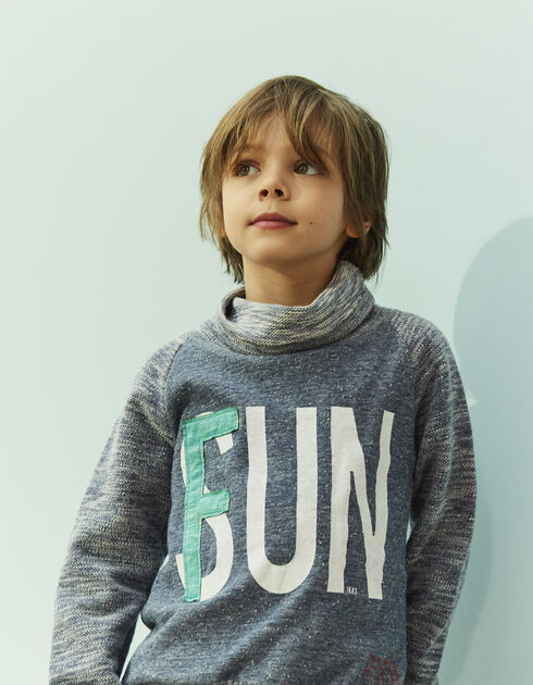 Boys' blue sweatshirt
