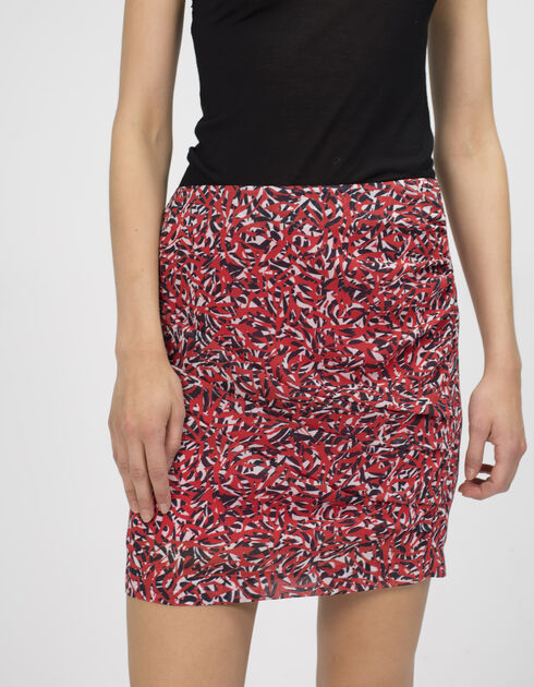 Women's printed draped skirt