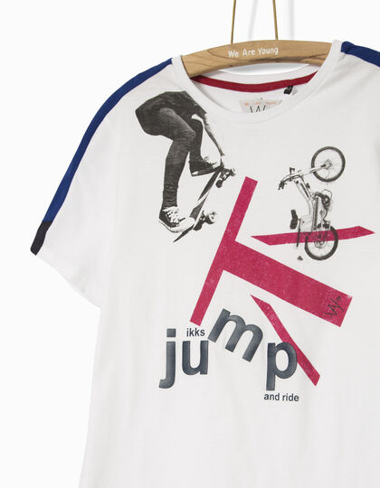 Boys' white T-shirt  - IKKS Junior