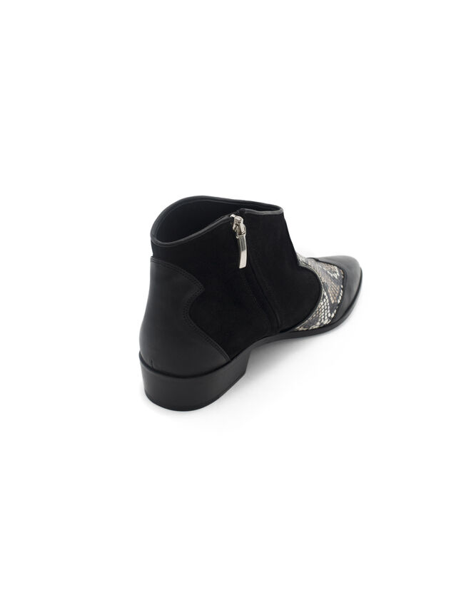 Women's zipped boots