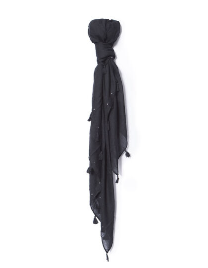 Women's black scarf - IKKS Women