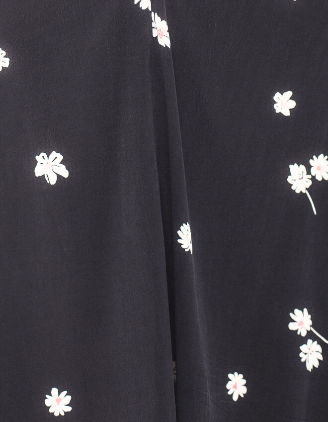 Black Womens flower print top