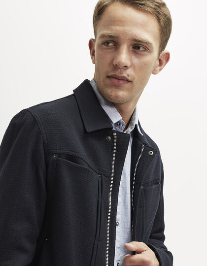 Navy wool cloth jacket - IKKS Men