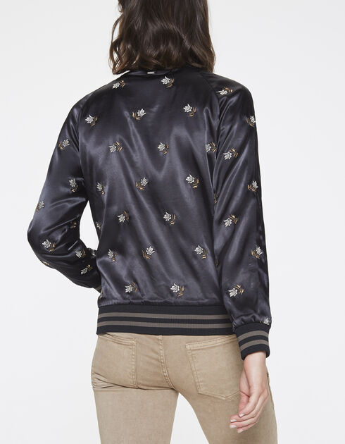 All-over embroidered bomber jacket