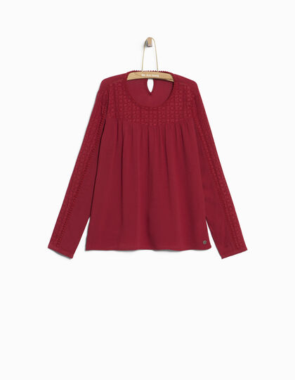 Blouse rouge fille - IKKS Junior