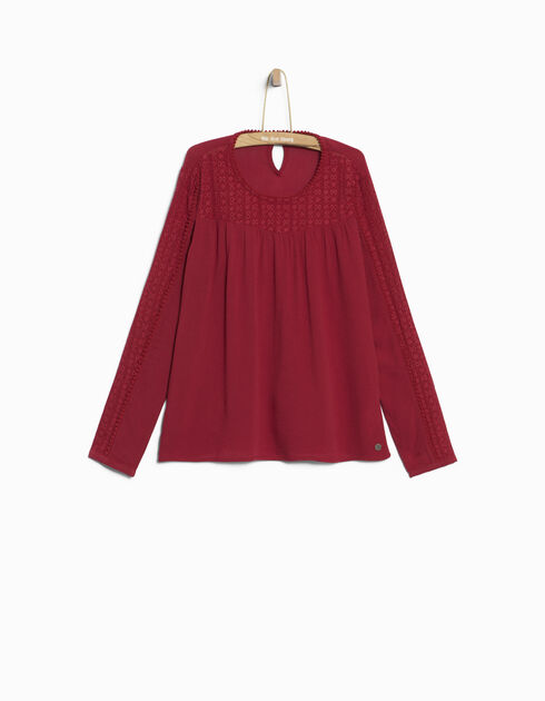 Girls' red blouse