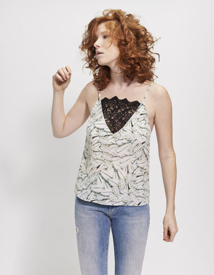 Top estampado plumas - IKKS Women