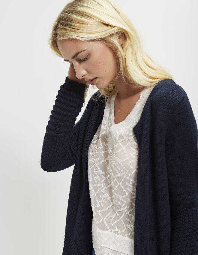 Women's mid-length cardigan
