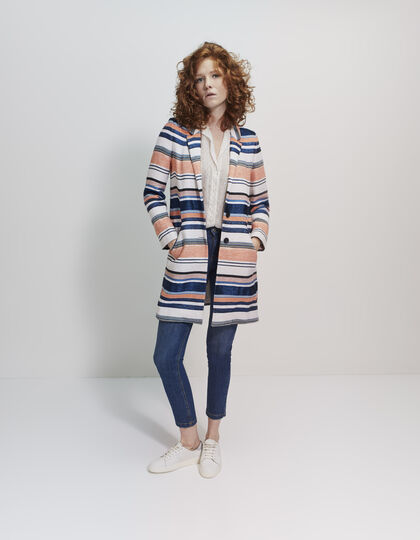 Women's striped coat - IKKS Women