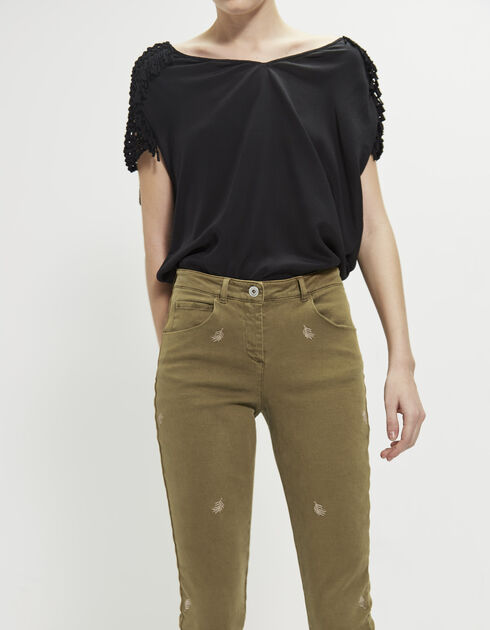 Women's twill trousers