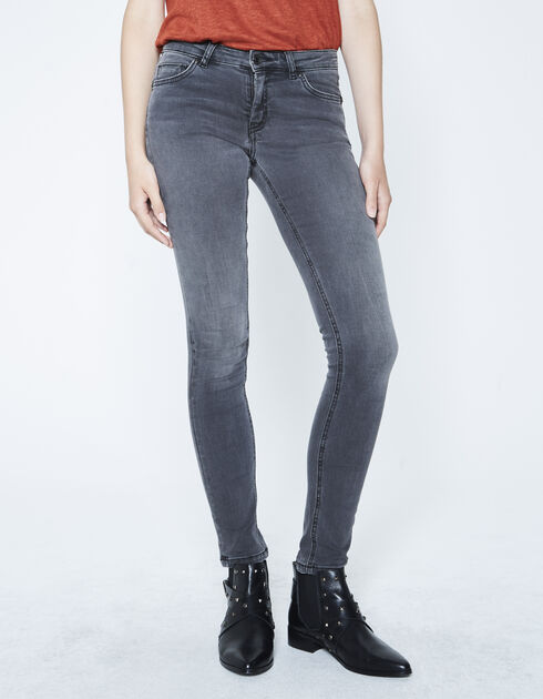 Grey sculpt-up, slim-fit jeans