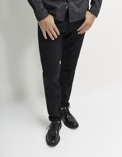 Men's slim black jeans