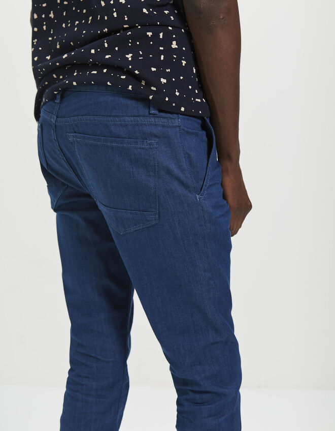 Men's tapered blue trousers