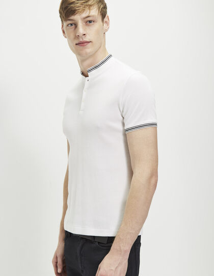 Polo blanc homme - IKKS Men