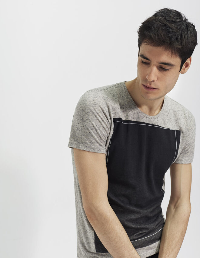 Tee-shirt chiné homme