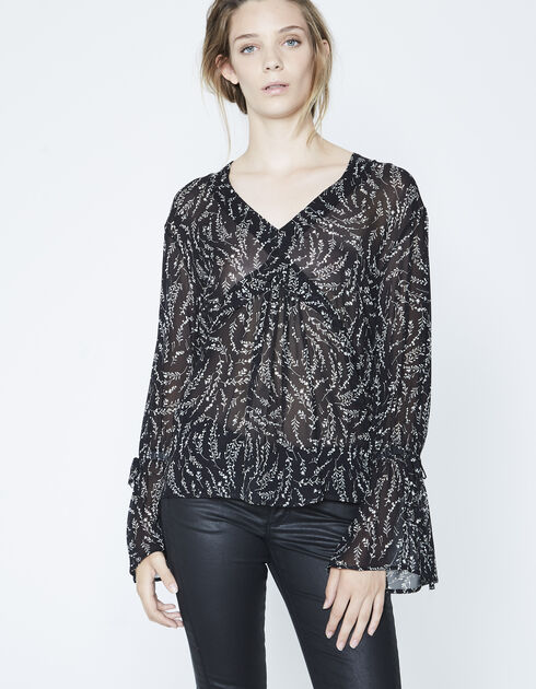 Blouse takkenprint dames