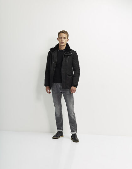Men's khaki parka - IKKS Men