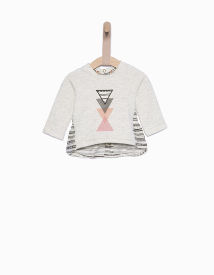 Sweat bébé fille gris - IKKS Junior