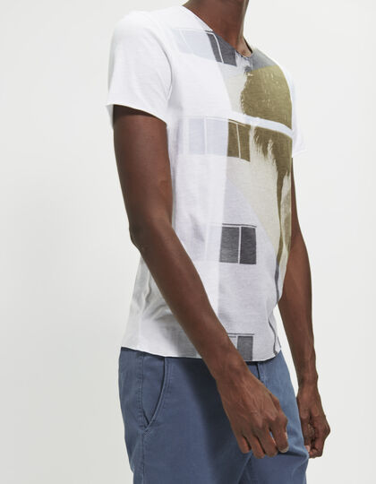 Wit heren T-shirt - IKKS Men
